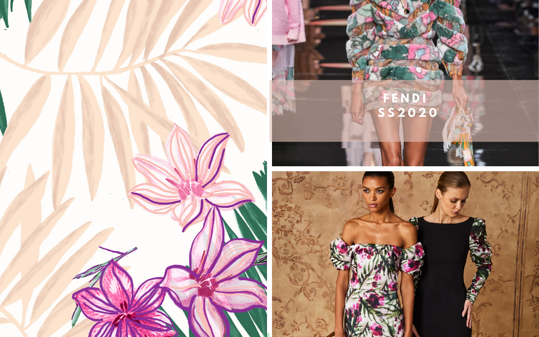 2020 CATWALKS PRINT & PATTERN HIGHLIGHTS: THE TROPICAL EDIT